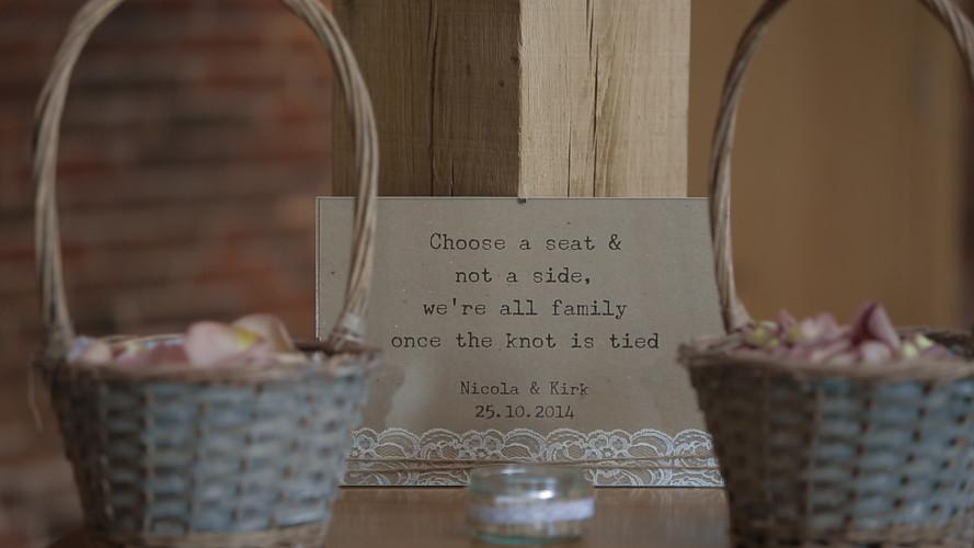 Nicola & Kirk - Wedding Video Mythe Barn Leicestershire
